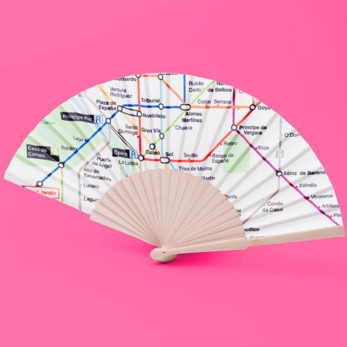 Fan with map of Metro
