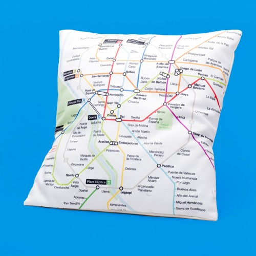 Cushion cover with map of Metro