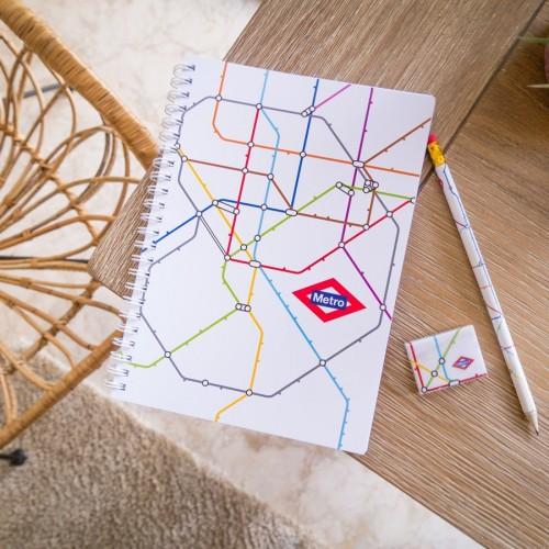 Cuaderno plano Metro de Madrid