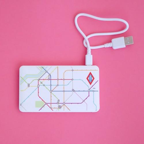 Batería externa portátil plano Metro
