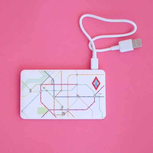 External battery for laptop with map of Metro
