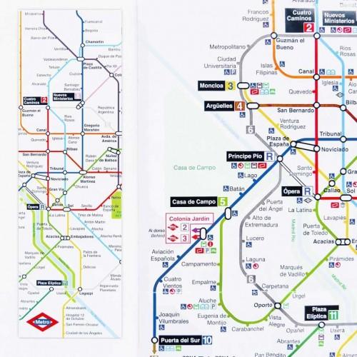 Marcapáginas plano Metro