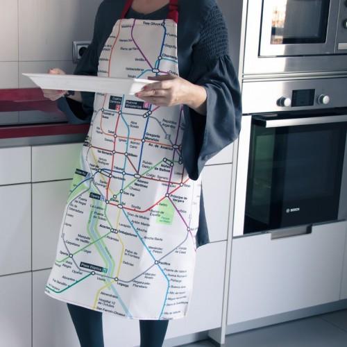 Delantal de cocina plano Metro