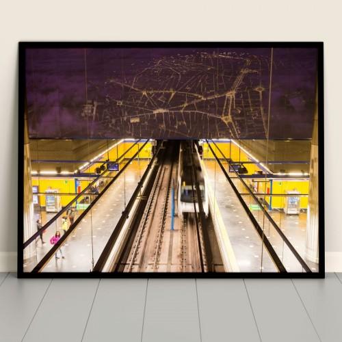 Póster estación Aeropuerto T1-T2-T3