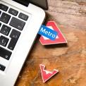 Memoria USB 4Gb logo Metro